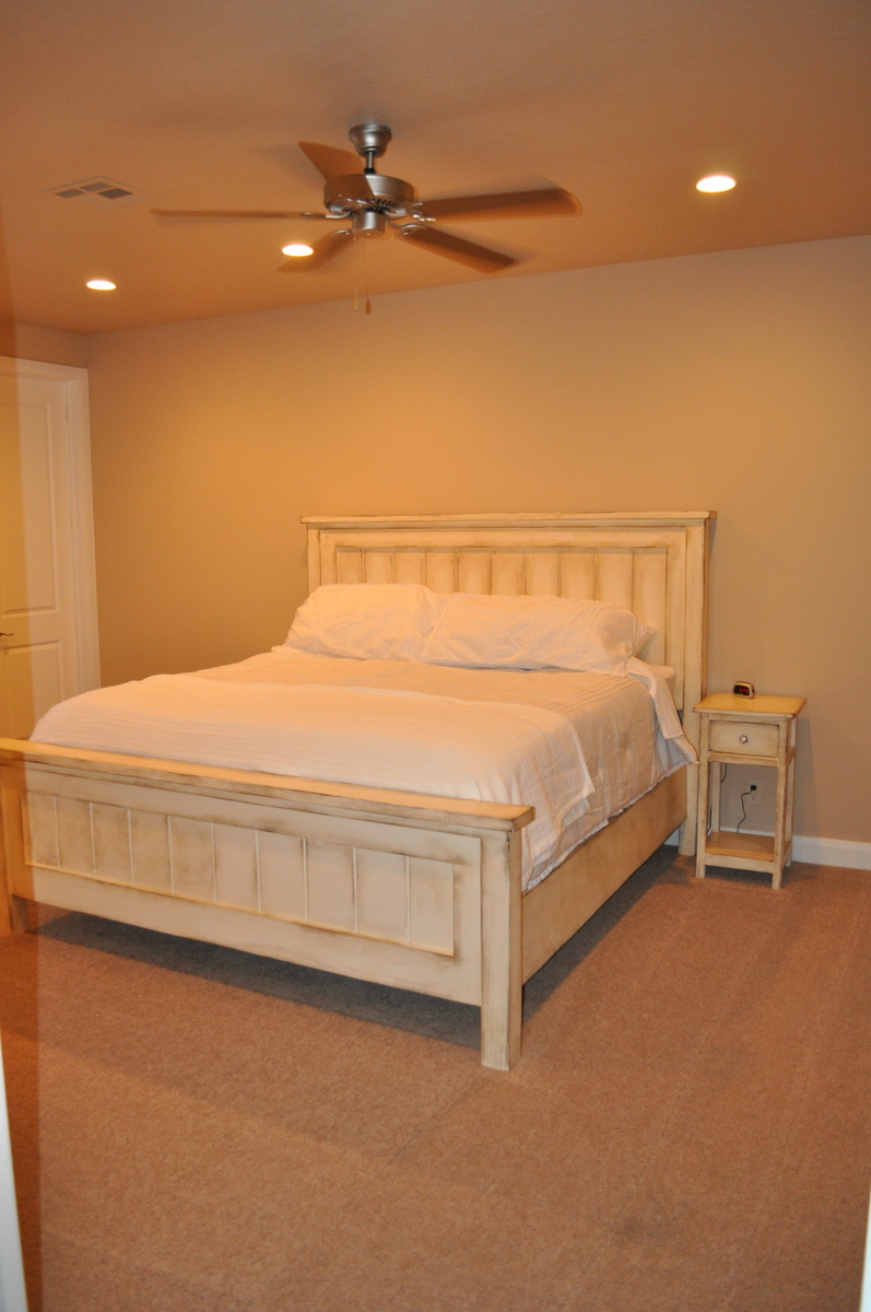 Ana White King Farmhouse Bed With Matching Side Tables
