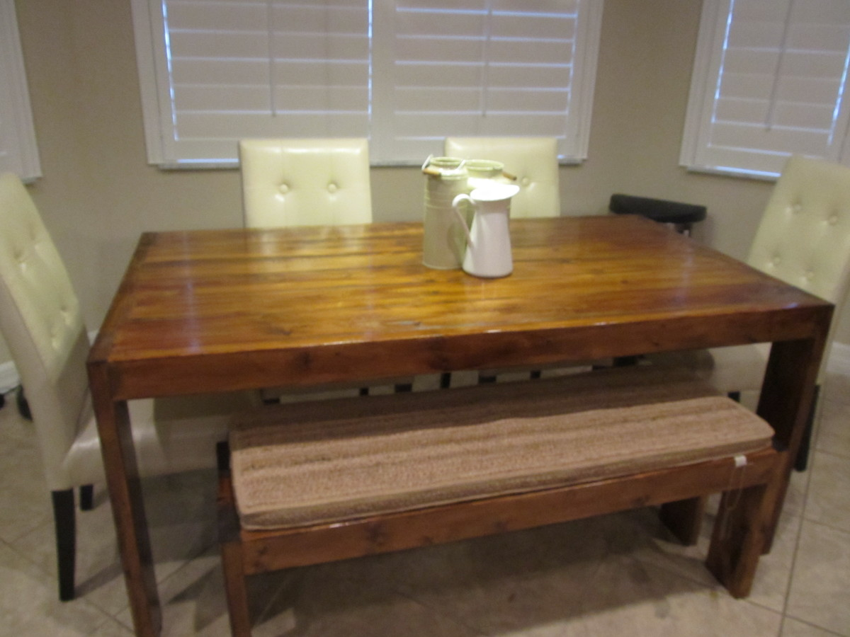 Ana White Modern Farmhouse Table And Bench Diy Projects