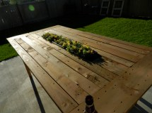 Ana White Outdoor Pallet Table With Recessed Planter Box
