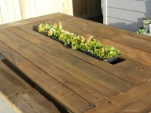 Outdoor Pallet Table With Recessed Planter Box Ana White