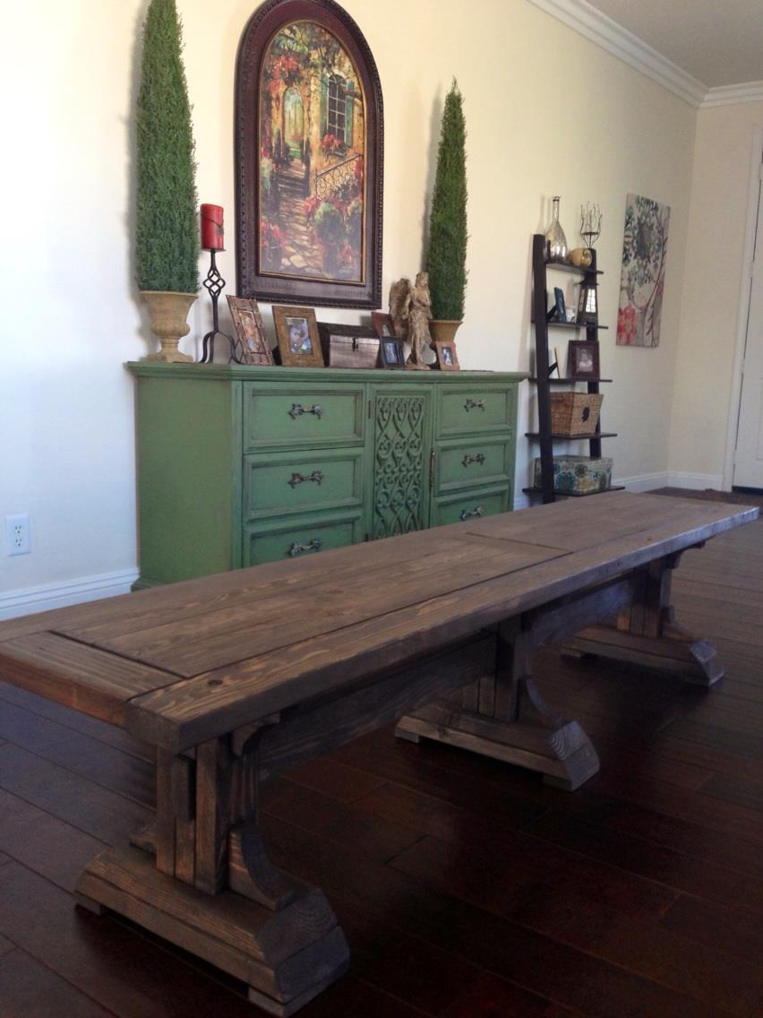 Ana White Triple Pedestal Farmhouse Bench Diy Projects