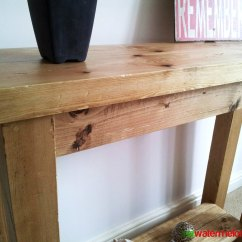 Build A Rustic Sofa Table Mexican Set Ana White Chunky Hall Console Diy Projects