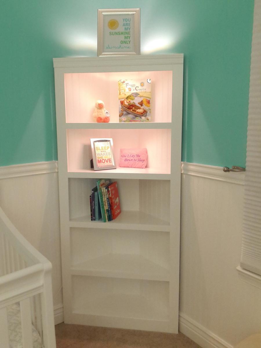 Ana White Corner Shelf For Nursery Diy Projects