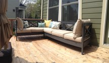DIY Outdoor Furniture Plans Sectional