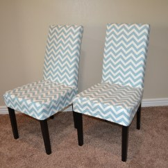 Material To Cover Dining Chairs Swivel Club Chair Recliner Ana White Parson Slip With Chevron Fabric