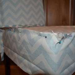 Gray Chair Slipcover Bath Chairs For Elderly South Africa Ana White Parson Slip Cover With Chevron Fabric So Easy