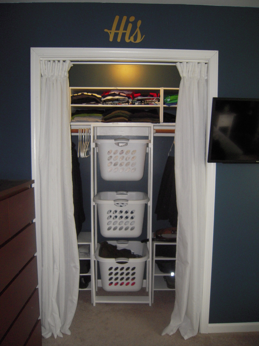 Ana White  His  Hers Closet Laundry Basket Dressers  DIY Projects