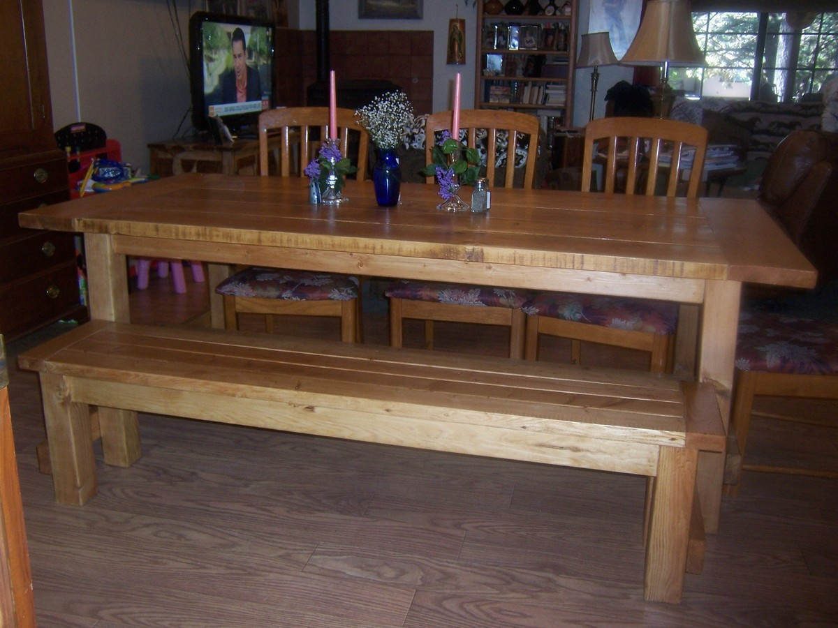 farmhouse table and chairs with bench black rocking cracker barrel ana white diy projects