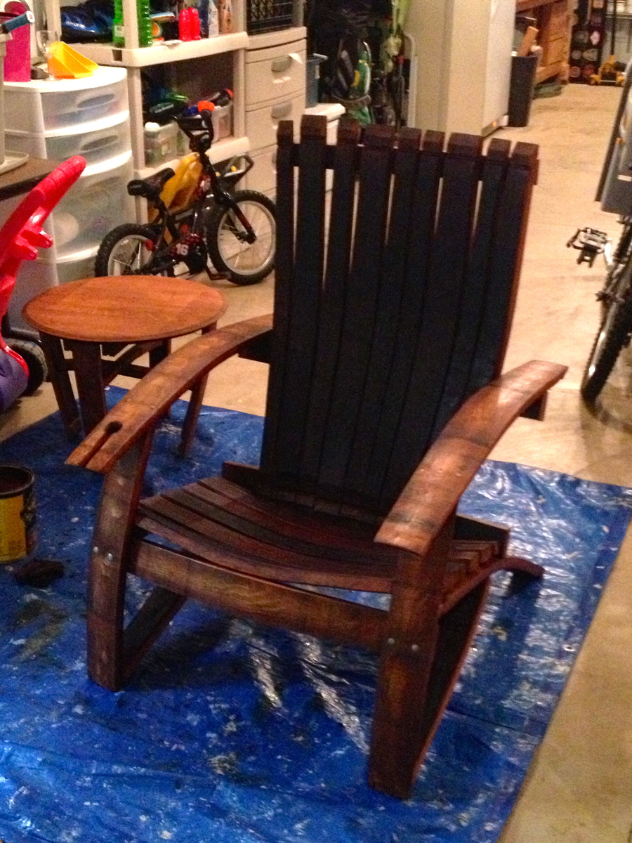 adirondack chair diy ana white office visitor wine oak barrel projects