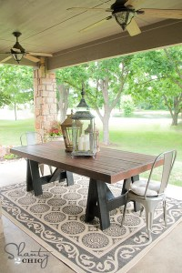 Ana White | Sawhorse Outdoor Table - DIY Projects