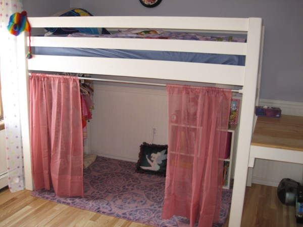Ana White Junior Bunk Bed With Curtains And Dress Area - Diy Projects