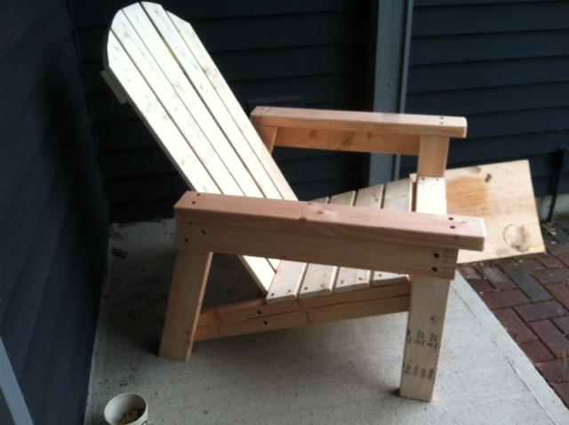 adirondack chair diy ana white red parsons chairs home depot version projects