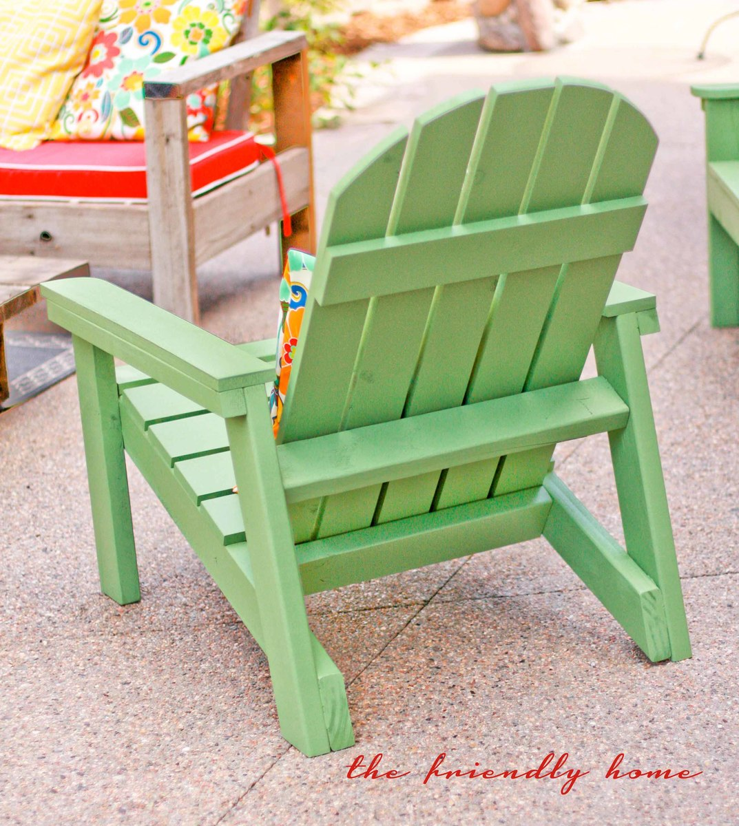 adirondack chair diy etsy high covers ana white green chairs projects
