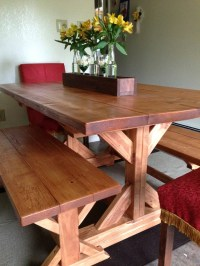 Ana White | Fancy X Farmhouse Table and Benches - DIY Projects