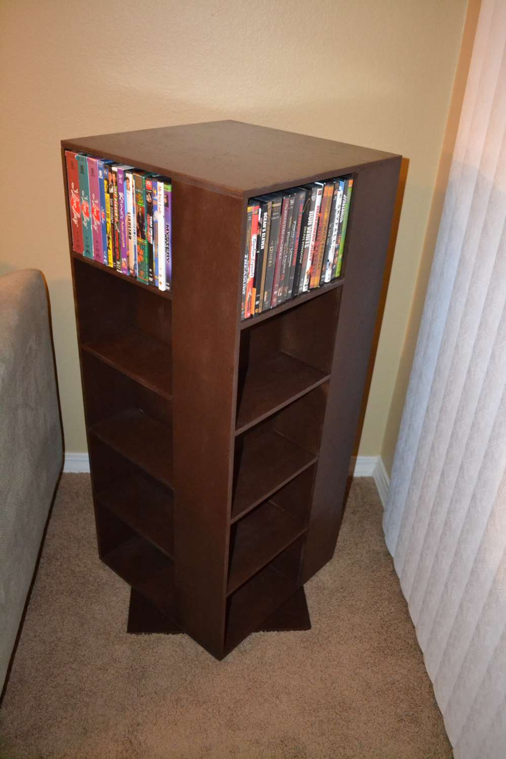 Ana White  My First Project Spinning DVD Rack  DIY Projects