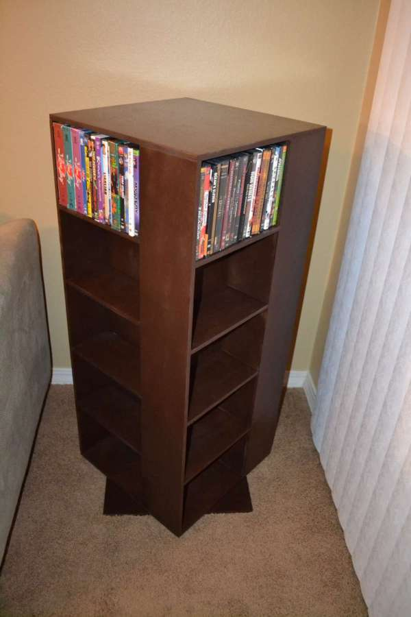 Ana White Project Spinning Dvd Rack - Diy Projects