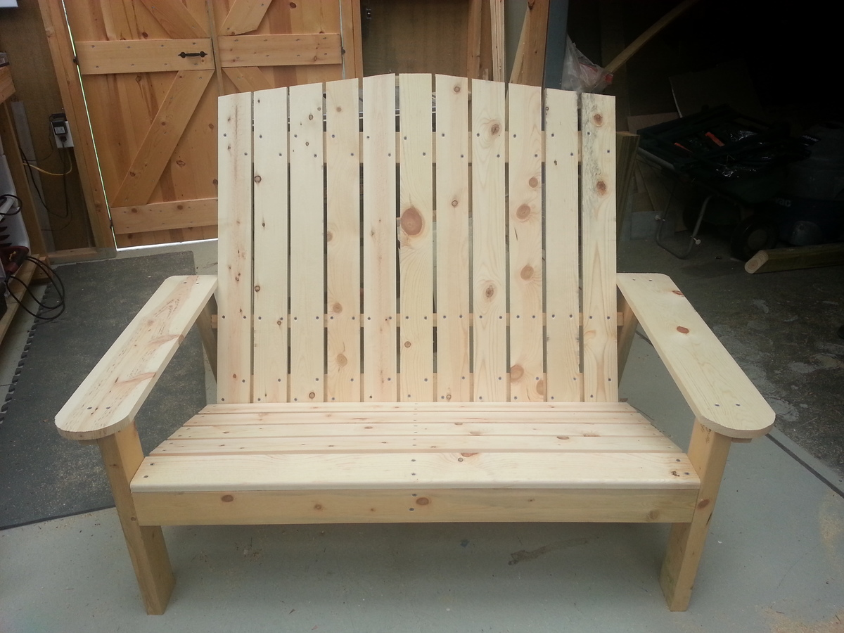adirondack chair diy ana white mexican dining room table and chairs love seat projects