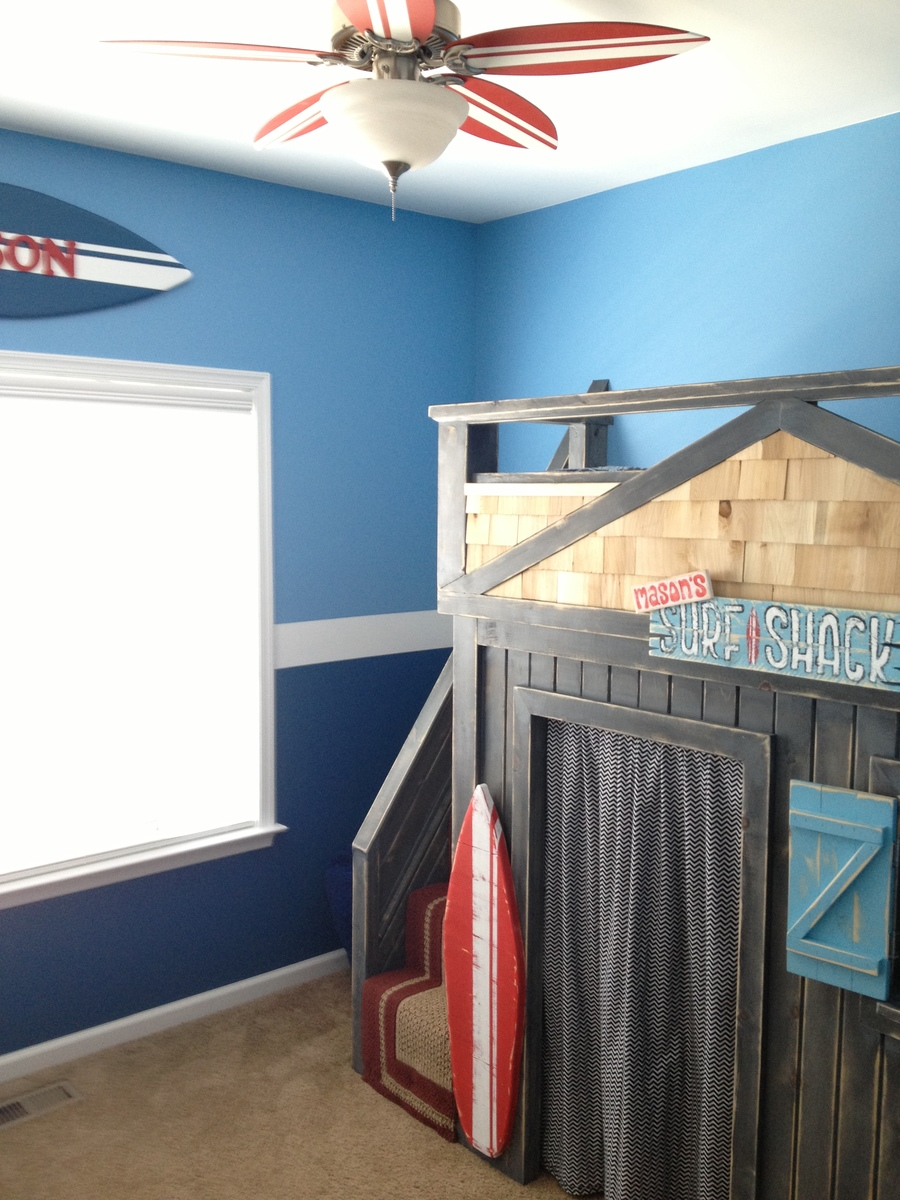 Ana White  Surf and Beach Themed Bedroom  DIY Projects
