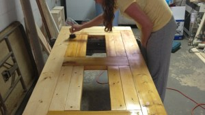 Modified PATIO TABLE WITH BUILT IN BEER/WINE COOLERS Ana