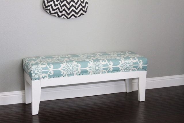 Ana White  Our Upholstered entry way bench  DIY Projects