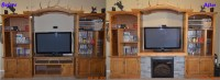 Ana White | Entertainment Center Fireplace - DIY Projects