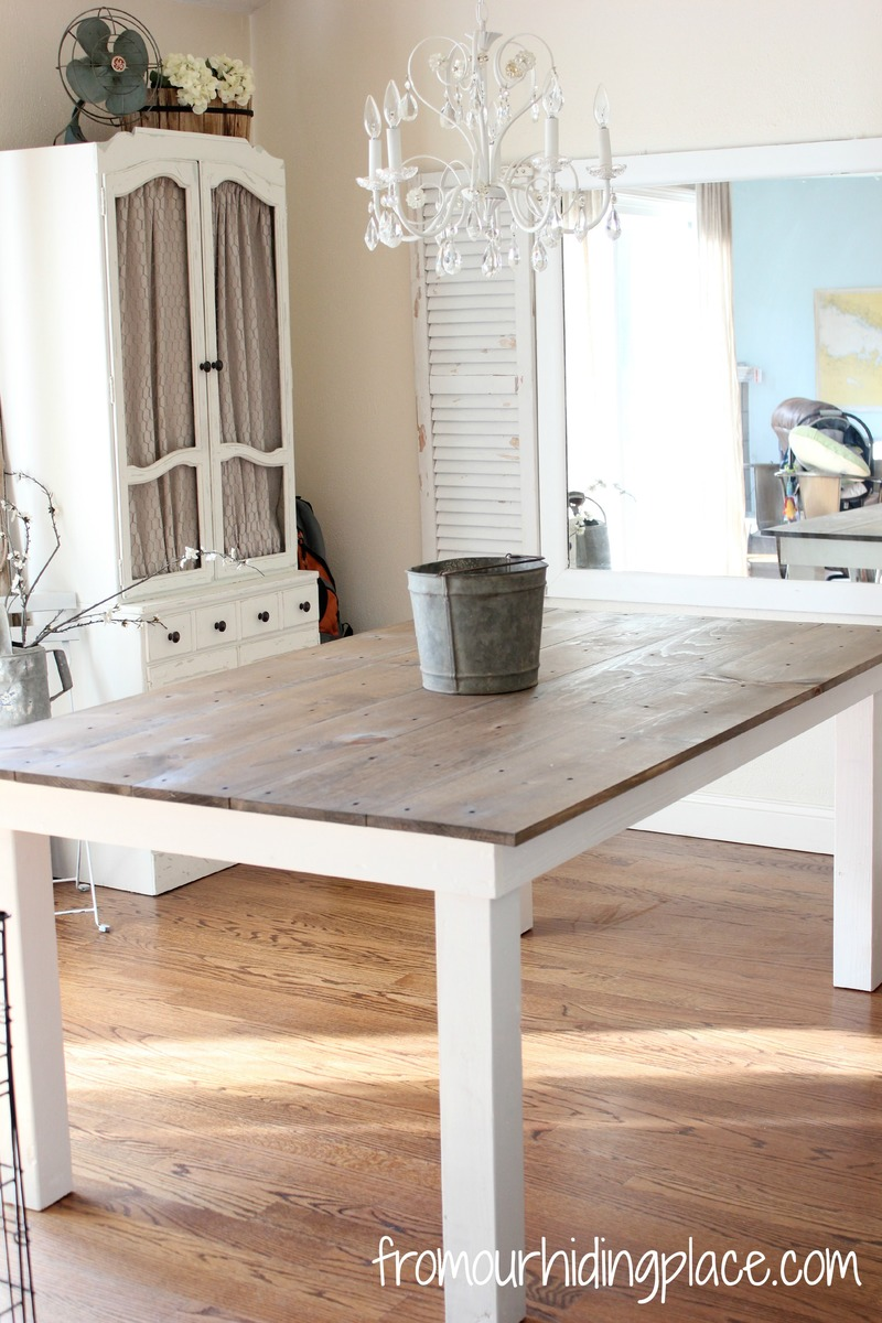 white kitchen tables short wall cabinets ana rustic farmhouse table diy projects