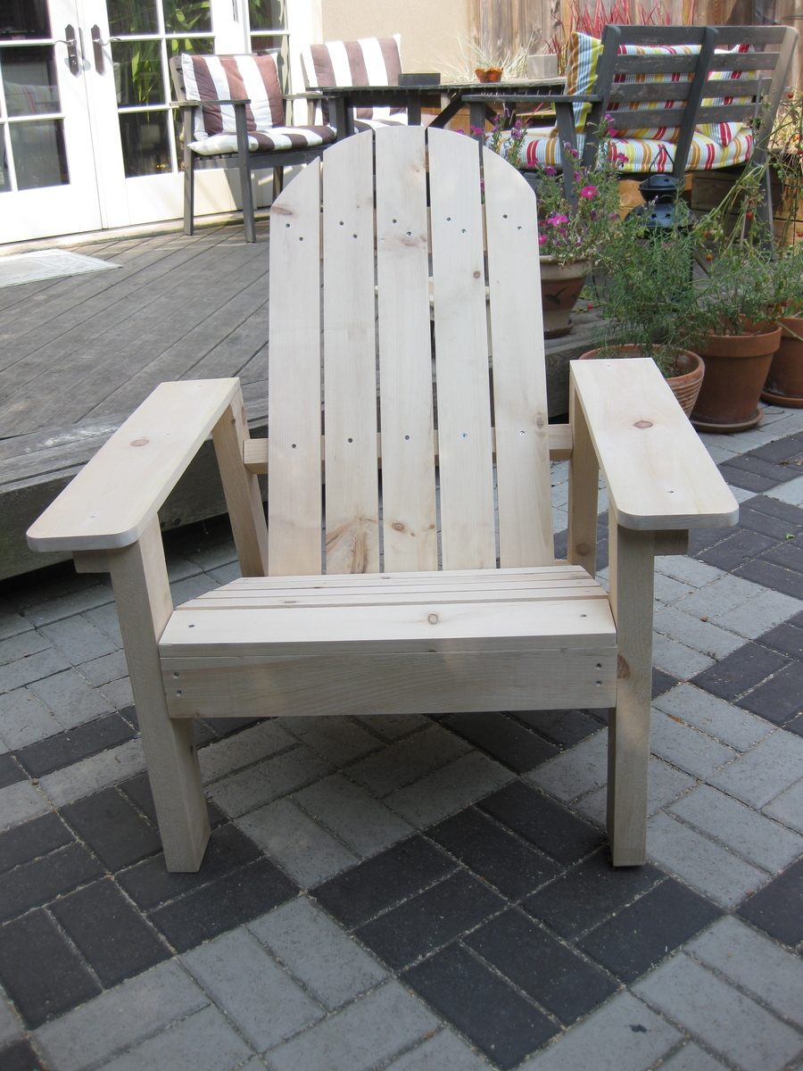 adirondack chair diy ana white eddie bauer wooden high replacement cover in pine projects