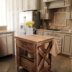 Diy Rolling Kitchen Island Remodeled Ideas Ana White Rustic X Small Projects