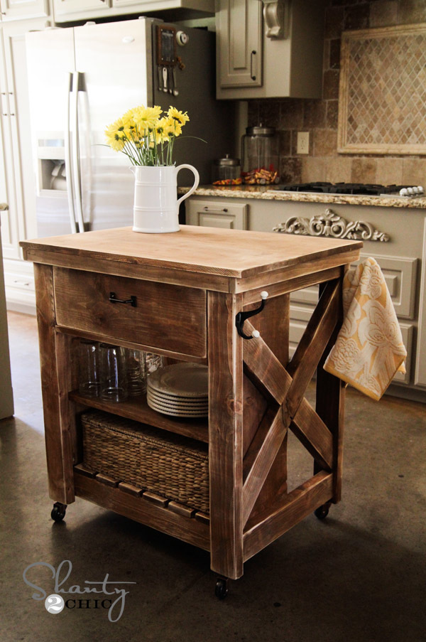 diy rolling kitchen island pfister pasadena faucet ana white rustic x small projects 85 to build this solid wood