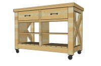 Ana White   Rustic X Kitchen Island - Double - DIY Projects