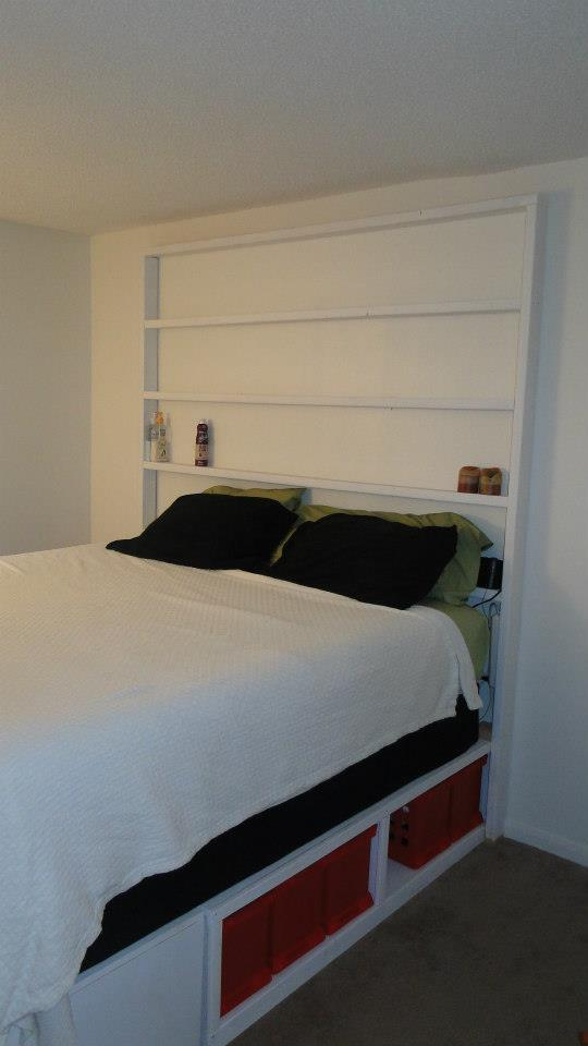 Ana White King Storage Bed With Bookcase Headboard DIY Projects