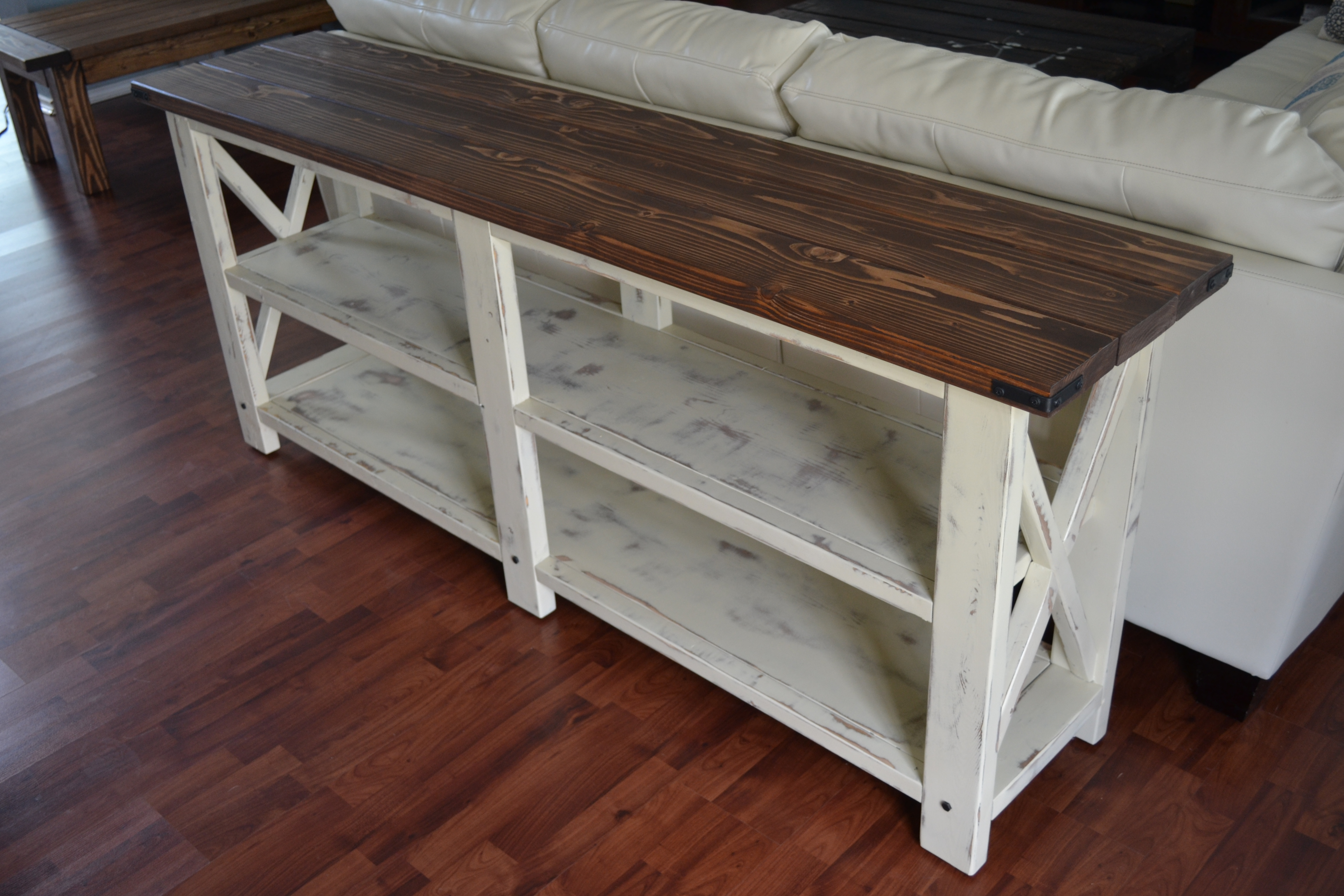Ana White Sofa Table Ana White Rustic X Console Diy Projects  TheSofa