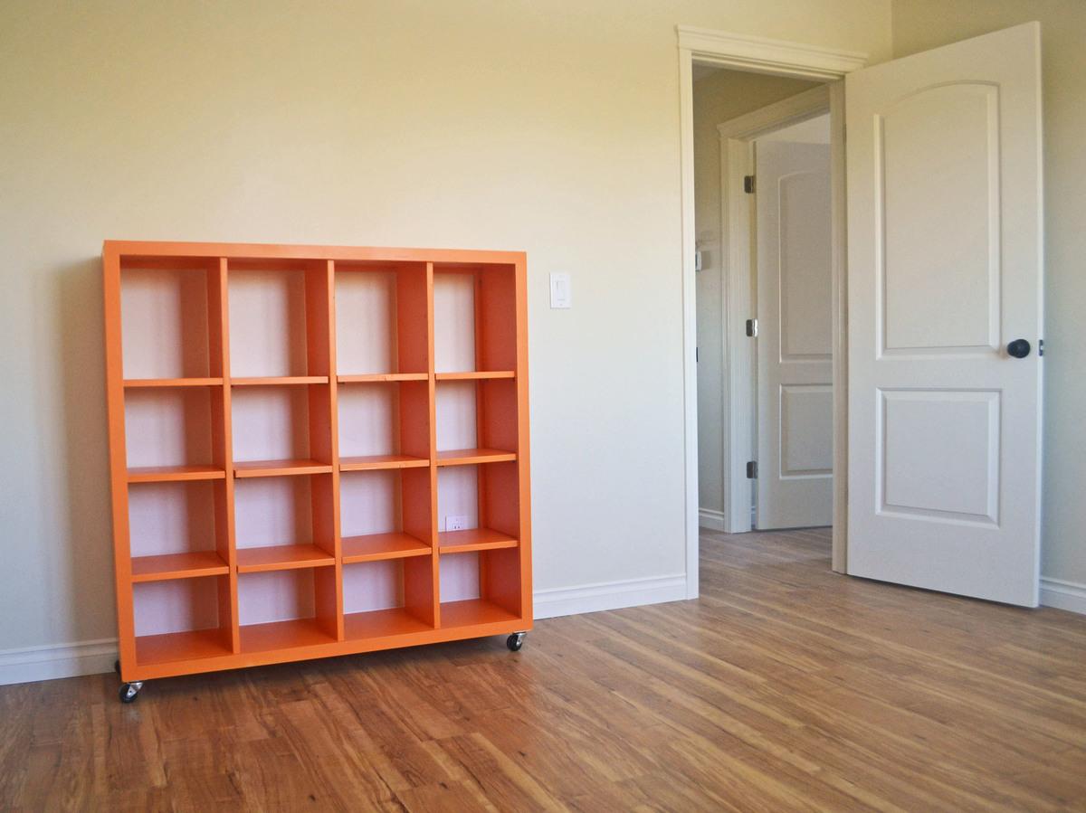 4x4 Rolling Cube Shelf Adjustable Shelves Ana White