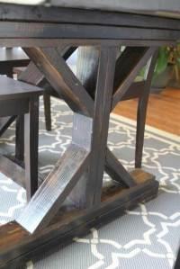 Ana White | AmusingMJ's Fancy X-Leg Farmhouse Table - DIY ...