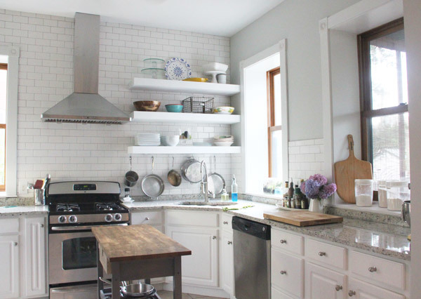 Ana White Bigger Stronger Kitchen Floating Shelves DIY Projects