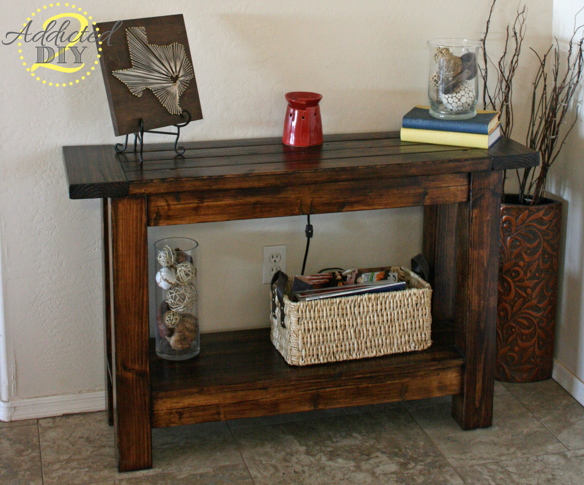building a sofa table bad credit ana white pottery barn inspired console diy projects