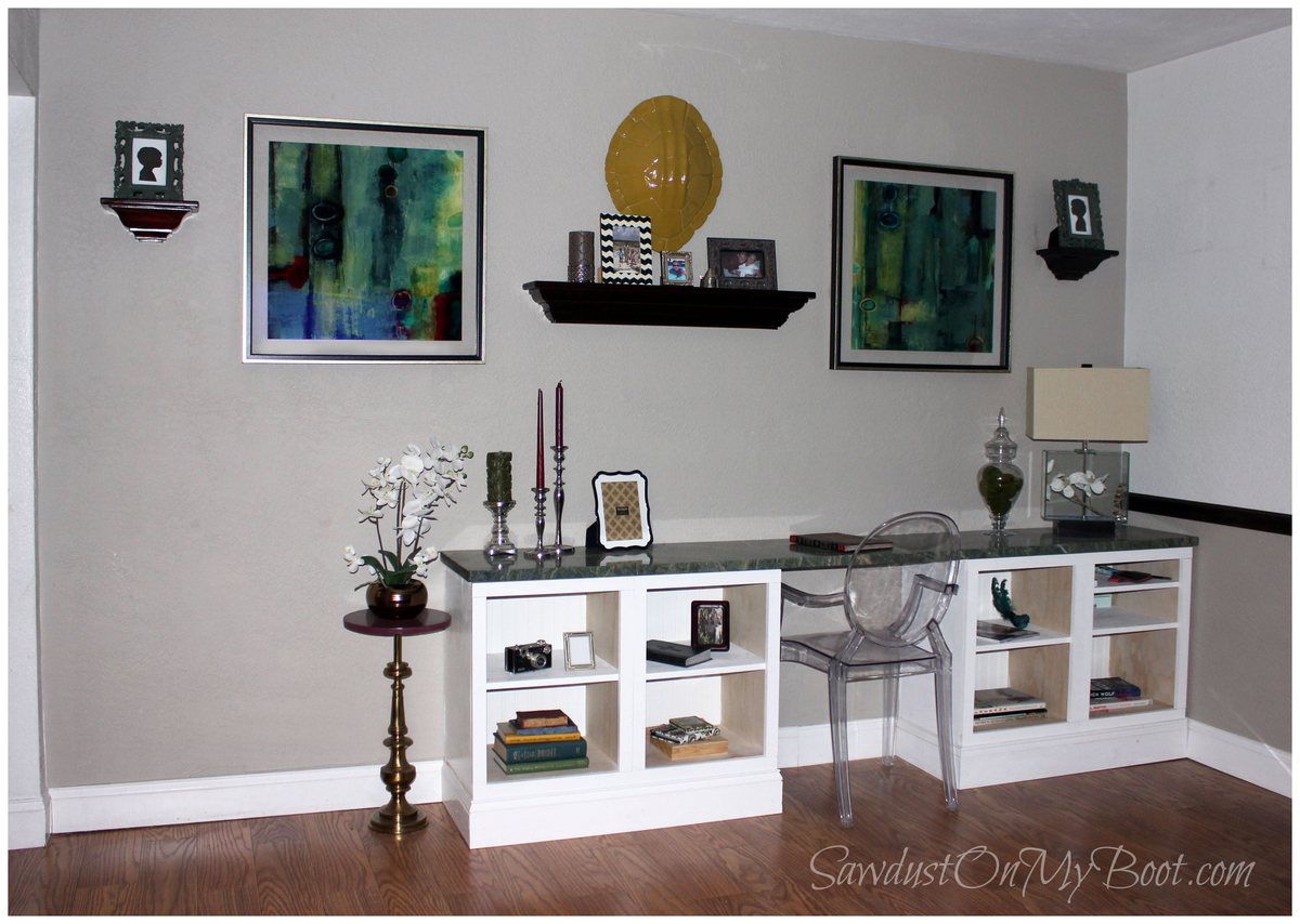 Ana White  BuiltIn Desk  DIY Projects