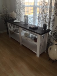 Ana White | Rustic X Console Table - DIY Projects