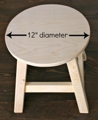 Ana White | kids vanity stool & slipcover - DIY Projects