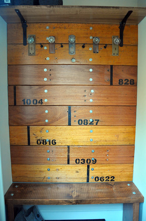 Ana White Diy Salvaged Mudroom Setup Inspired By The