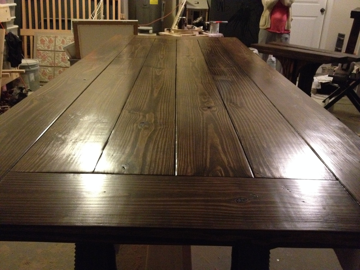 Ana White  Triple Pedestal Table Modified  DIY Projects