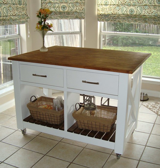 diy kitchen island on wheels havertys ana white | rustic x - done! projects