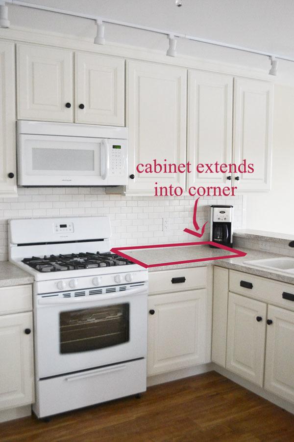 white corner kitchen cabinet tv mount ana 42 base blind momplex vanilla diy projects