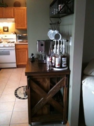 Ana White  Coffee bar with kitchen island  DIY Projects