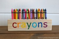 Ana White | Easy Scrap Wood Crayon or Pencil Block Holder ...