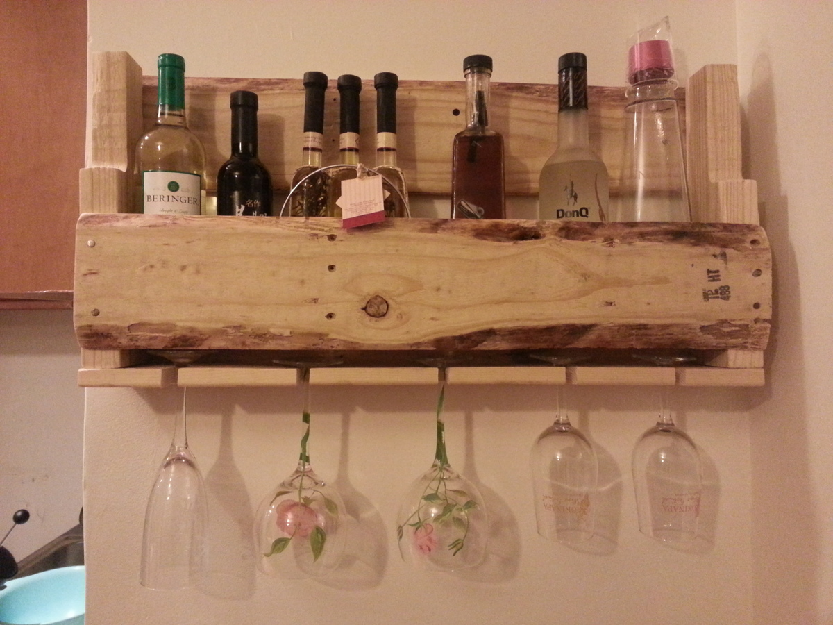 Wine Rack Glass Holder Diy