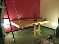 Ana White | Single Hanging day bed (mounted on wall) - DIY ...