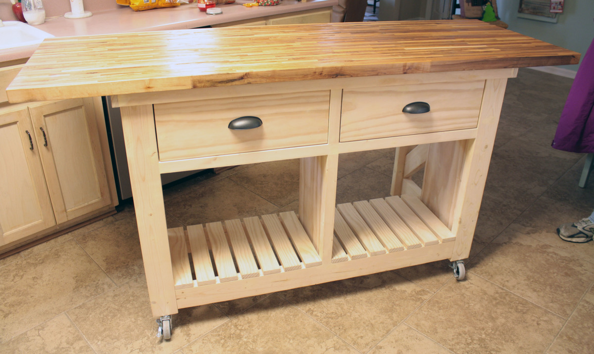 Ana White Double Kitchen Island With Butcher Block Top DIY Projects