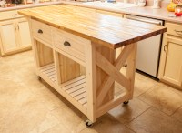 Ana White | Double kitchen island with butcher block top ...