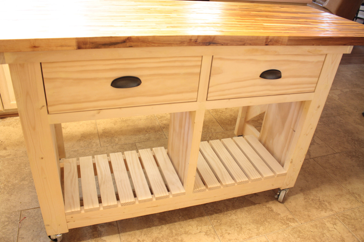 butcher block top kitchen island accessible sink ana white double with